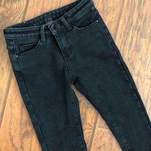 BLACK JEANS - with fluffy inside - size 25